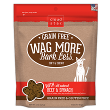 Grain Free Wag More Bark Less All Natural Beef & Spinach Soft & Chewy Dog Treat