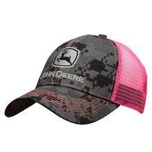 Ladies' Digital Camo Hat with Pink Mesh