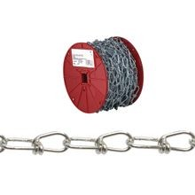 0724627 Double Loop Chain, 4/0, 100 Ft L, 365 Lb, Low Carbon Steel