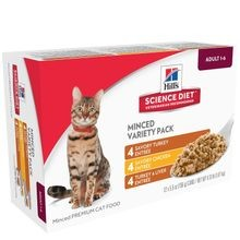 Adult Minced Variety Pack Canned Cat Food, 12 Pack
