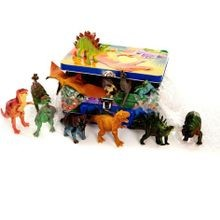 Toy Dinosaurs in a Tin