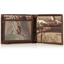 Men's Camo Canvas Passcase Wallet - Camo/Green/Brown, One Size