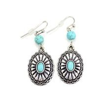 Small Turquoise Concho Earrings
