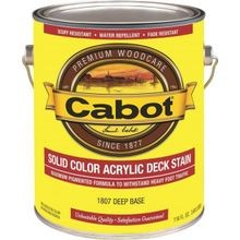1 Gallon Container Water Based Solid Color Decking Stain