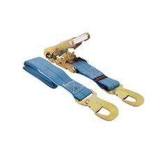 Car Tie-Down Ratchet Strap With Snap Closure Hooks