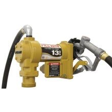 Sd600 Fuel Transfer Pump, 13 Gpm, 1 In X 3/4 In, 3/4 In X 12 Ft Hose, Heavy Duty Cast Iron