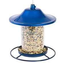 Blue Sparkle Panorama Bird Feeder