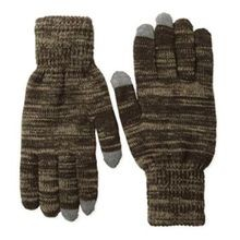 Men's 2 Layer Knit Glove with Texting Fingers - Adventure Black
