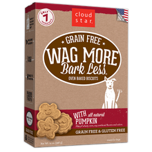 Grain Free Wag More Bark Less Oven Baked Biscuits With All Natural Pumpkin Dog Treats