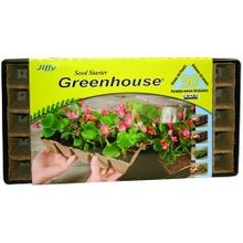 50-Plant Seed Starter Greenhouse With Peat Pots