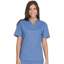 Women's Eds Signature Scrubs Missy Fit V-Neck Top