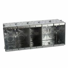 Steel City® GW-535-G Gangable Masonry Box, Steel, 111.7 cu-in, 5 Gangs, 24 Knockouts
