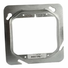 Steel City® 72-C-19 Outlet Square Box Cover, 4-11/16 in L x 4-11/16 in W, Steel
