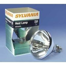 Sylvania 375R40/1-120V/14747 Reflective Infrared Lamp, 375 W, E26SK Medium Skirted Incandescent Lamp, R40