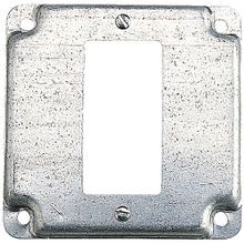 Steel City® RS Outlet Square Box Cover, 4 in L x 4 in W, Steel