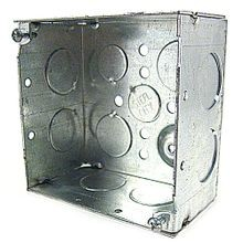Steel City® 52171-3/4 Square Box, Steel, 30.3 cu-in, 13 Knockouts