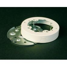 Wiremold® V5738 Solid Base Fixture Box Fitting, 4-3/4 in L x 1 in W x 4-3/4 in H, Steel, Ivory