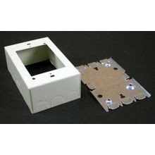 Wiremold® V5745 Combination Device Box, 4-5/8 in L x 2-7/8 in W x 1-3/4 in H, Steel, Ivory