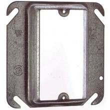 Steel City® 52-C-14-5/8 Outlet Square Box Cover, 4 in L x 4 in W, Steel