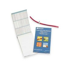 Brady® Porta-Pack® PWM-PK-1 Pre-Printed Wire Marker Book, 1-1/2 in L x 0.2 in W, 0 - 9 Legend, Vinyl Cloth