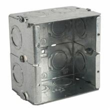 Steel City® GW-225-G Gangable Masonry Box, Steel, 31.6 cu-in, 2 Gangs, 10 Knockouts