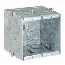 Steel City® GW-235-G Gangable Masonry Box, Steel, 22 cu-in, 2 Gangs, 12 Knockouts