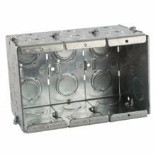 Steel City® GW-335-G Gangable Masonry Box, Steel, 71 cu-in, 3 Gangs, 16 Knockouts