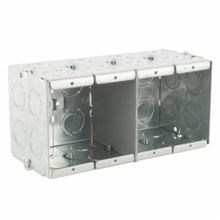 Steel City® GW-435-G Gangable Masonry Box, Steel, 93.5 cu-in, 4 Gangs, 20 Knockouts