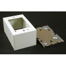 Wiremold® V5744 Extra Deep Device Box, 4-5/8 in L x 2-7/8 in W x 2-3/4 in H, Steel, Ivory