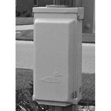 Midwest® U101C Unmetered Power Outlet Pedestal, 120/240 VAC, 100 A, 1 Phase, Surface Mount