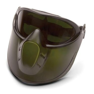 Pyramex Capstone Green Tinted Face Shield with IR 5.0 Anti-Fog Lens Goggles