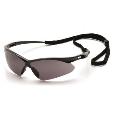 PMXTREME Anti-Fog Gray Lens/Black Frame Safety Glasses