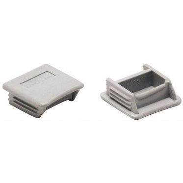 Gray Plastic End Cap for 1-5/8