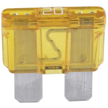 Yellow BladE-Type Fuse 20 Amp, 5 per Box