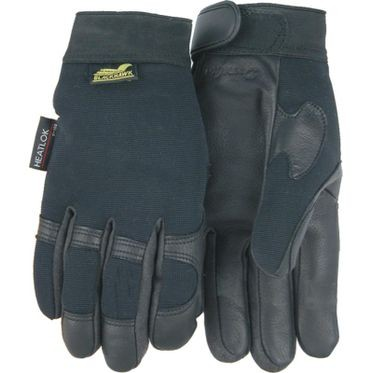 Mechanic Style Black Deerskin Palm XL