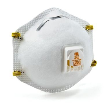 3M Particulate Respirator With Valve (10 Per Box)