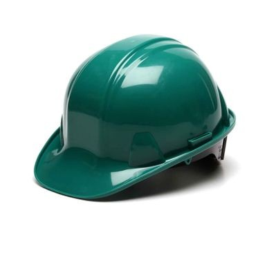 Green 6-Point Ratchet Hard Hat Cap Style