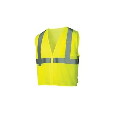 Class 2 Lime Mesh Safety Vest Large