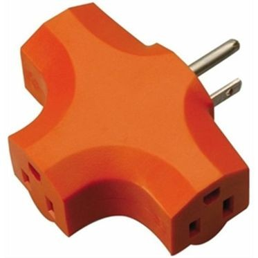3 Way Adapter Solid Molded PVC Orange