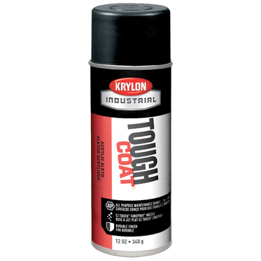 Krylon Tough Coat Spray Paint Semi-Flat Black 12 Fluid Ounces