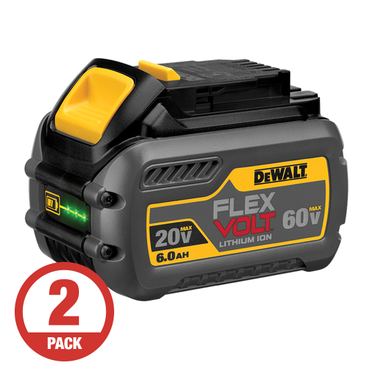 DeWalt FLEXVOLT 20/60V 6.0 AH Battery (2 Per Pack)