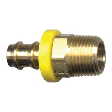 Brass Push-On Male 3/8
