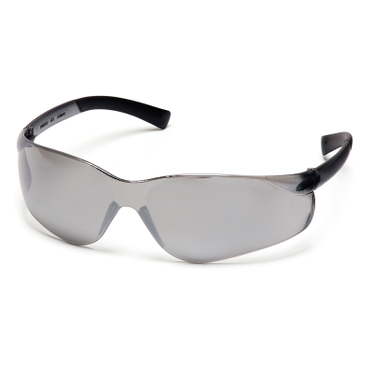 Ztek Silver Mirror Lens/Silver Frame Safety Glasses