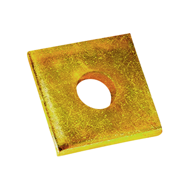 Yellow Zinc Square Washer 3/8