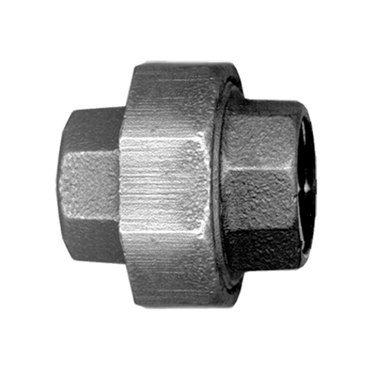 Black Iron Union Pipe Fitting 3/8