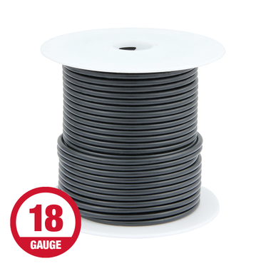 Primary Wire 18 Gauge Black 100' Spool