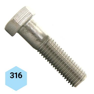 "Box of 275 3//8-16 x 3-3//4/"" Stainless Steel Hex Head Cap Screw"