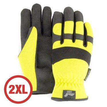 Mechanics Style Hi-Vis Yellow Glove 2XL