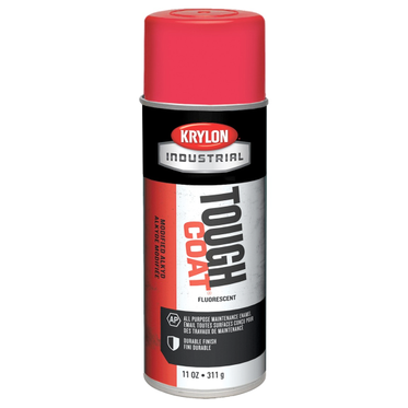 Krylon Tough Coat Spray Paint Fluorescent Red 12 Fluid Ounces