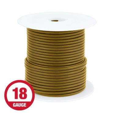Primary Wire 18 Gauge Brown 100' Spool